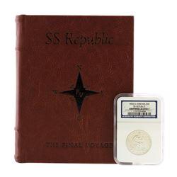 1855-O Arrows SS Republic Seated Liberty Half Dollar Coin NGC Shipwreck Effect w/Book