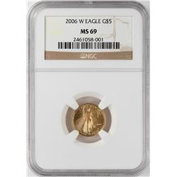 2006-W $5 American Gold Eagle Coin NGC MS69