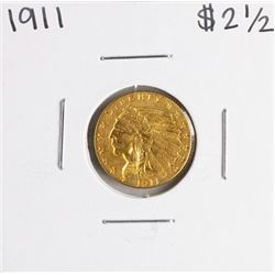 1911 $2 1/2 Indian Head Quarter Eagle Gold Coin