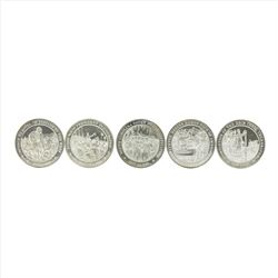 Lot of (5) Commemorative Silver Coins