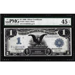1899 $1 Black Eagle Silver Certificate Note Fr.235 PMG Choice Extremely Fine 45EPQ