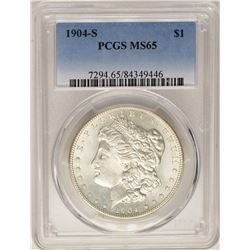 1904-S $1 Morgan Silver Dollar Coin PCGS MS65