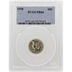 1938 Mercury Dime Proof Coin PCGS PR66