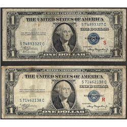 Pair of 1935A $1 R & S Experimental Silver Certificate Notes