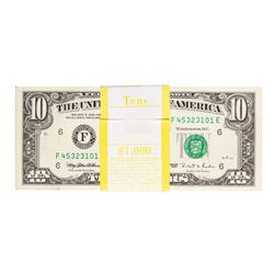 Pack of (100) 1995 $10 Federal Reserve Notes Atlanta
