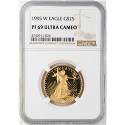1995-W $25 Proof American Gold Eagle NGC PF69 Ultra Cameo
