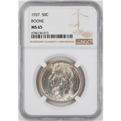 1937 Boone Commemorative Half Dollar Coin NGC MS65