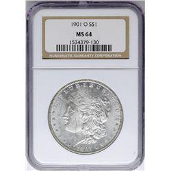 1901-O $1 Morgan Silver Dollar Coin NGC MS64