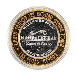 .999 Silver Mandalay Bay Resort & Casino Las Vegas, NV $10 Limited Casino Token