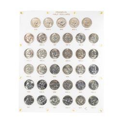 1948-1963 Franklin Half Dollar Coins in Capital Plastic