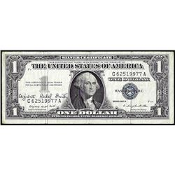 1957A $1 Silver Certificate Note with Courtesy Autograph