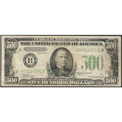 1934A $500 Federal Reserve Note New York