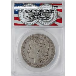 1904-S $1 Morgan Silver Dollar Coin ANACS Genuine