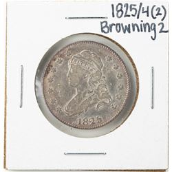 1825/4/(2) Browning 2 Capped Bust Quarter Coin