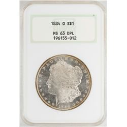 1884-O $1 Morgan Silver Dollar Coin NGC MS63DPL