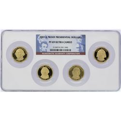 Set of 2007-S $1 Proof Presidential Dollar Coins NGC PF69 Ultra Cameo