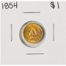 1854 $1 Indian Princess Head Gold Dollar Coin