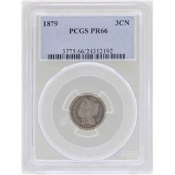 1879 3 Cent Nickel Proof Coin PCGS PR66