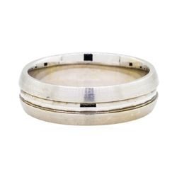 14KT White Gold Men's Wedding Band