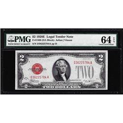 1928E $2 Legal Tender Note Fr.1506 PMG Choice Uncirculated 64EPQ