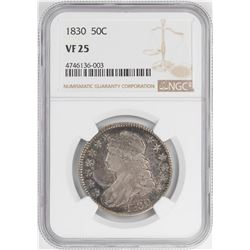 1830 Capped Bust Half Dollar Coin NGC VF25