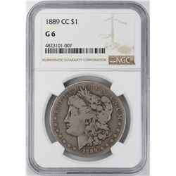 1889-CC $1 Morgan Silver Dollar Coin NGC G6