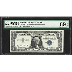 1957B $1 Silver Certificate STAR Note Fr.1621* PMG Superb Gem Uncirculated 69PPQ
