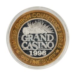 .999 Fine Silver Grand Casino $10 Limited Edition Gaming Token