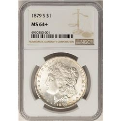 1879-S $1 Morgan Silver Dollar Coin NGC MS64+