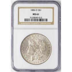 1886-O $1 Morgan Silver Dollar Coin NGC MS61