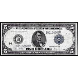 1914 $5 Federal Reserve Note New York