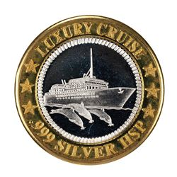 .999 Fine Silver Sunken Treasure Luxury Cruise $10 Limited Edition Gaming Token