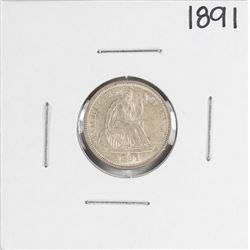 1891 Seated Liberty Dime Coin