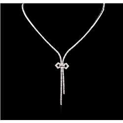 2.85 ctw Diamond Necklace - 14KT White Gold