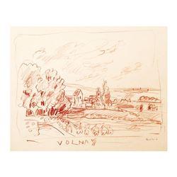 View of Volnay, Burgundy by Ensrud Original