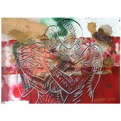 Deep Crimson Passion by Kostabi Original