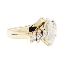 1.00 ctw Diamond Marquise Ring - 14KT Yellow Gold