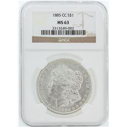 1885-CC NGC MS63 Morgan Silver Dollar