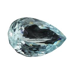4.59 ct.Natural Pear Cut Aquamarine