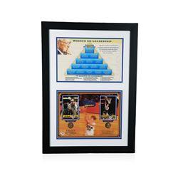 PSA Certified John Wooden and Bill Walton Pyramid of Success