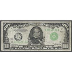 1934 $1000 Federal Reserve Note San Francisco