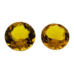 9.65 ctw.Natural Round Cut Citrine Quartz Parcel of Two