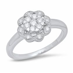 14K White Gold 0.33CTW Diamond Ring, (I1-I2/H-I)