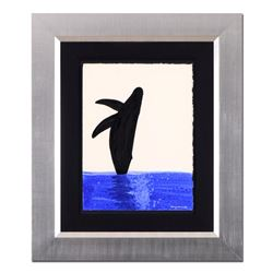 Humpback Breaching by Wyland Original