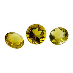 3.41 ctw.Natural Round Cut Citrine Quartz Parcel of Three