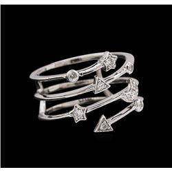 0.17 ctw Diamond Ring - 14KT White Gold