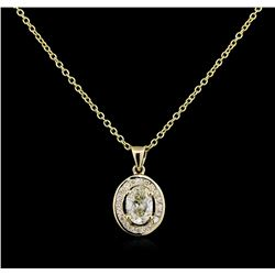 1.23 ctw Diamond Pendant With Chain - 14KT White Gold