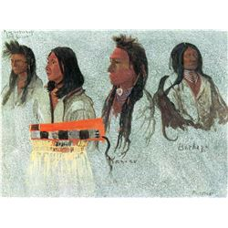 Four Indians by Albert Bierstadt