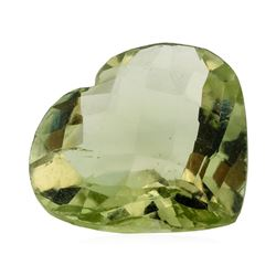 10.85 ct. Natural Heart Shape Cut Green Quartz