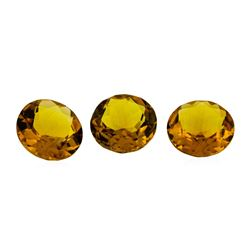 10.98 ctw.Natural Round Cut Citrine Quartz Parcel of Two